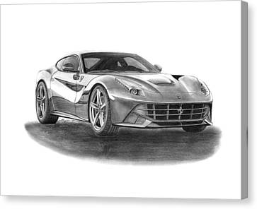 Ferrari F12 Berlinetta Canvas Print by Gabor Vida