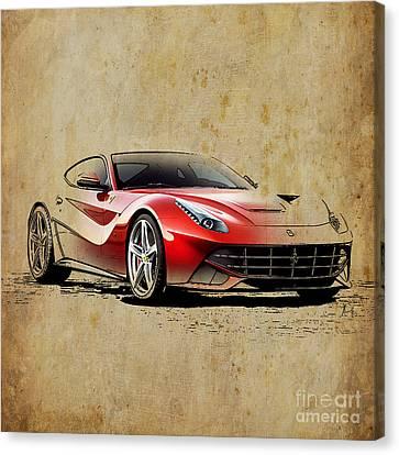 Ferrari F12 Canvas Print by Pablo Franchi