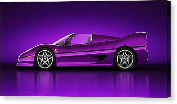 Ferrari F50 - Neon Canvas Print by Marc Orphanos