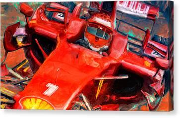 Ferrari Finnish Canvas Print by Alan Greene