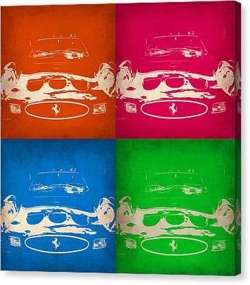 Ferrari Front Pop Art 4 Canvas Print by Naxart Studio
