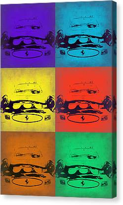 Ferrari Front Pop Art 5 Canvas Print by Naxart Studio