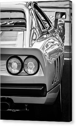 Ferrari Gto 288 Taillight -0631bw Canvas Print by Jill Reger