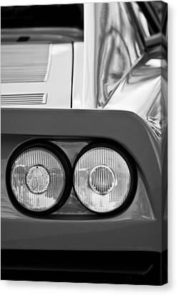 Ferrari Gto 288 Taillight -0635bw Canvas Print by Jill Reger