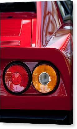 Ferrari Gto 288 Taillight -0635c Canvas Print by Jill Reger