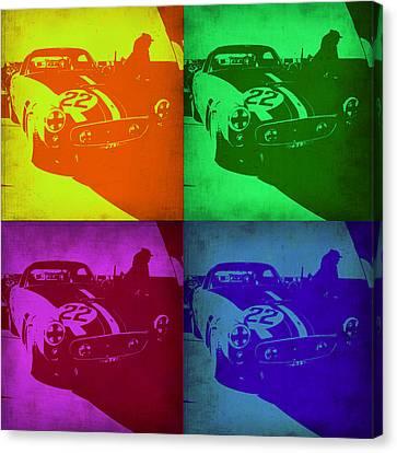 Gto Canvas Print - Ferrari Gto Pop Art 1 by Naxart Studio