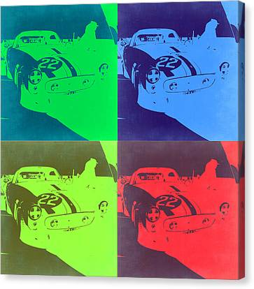 Ferrari Gto Pop Art 2 Canvas Print by Naxart Studio