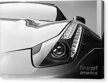 Ferrari Headlight Canvas Print by Matt Malloy