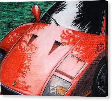 Ferrari In Red Canvas Print
