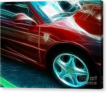 Ferrari In Red Canvas Print by Paul Ward