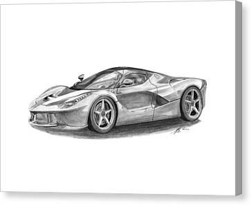 Ferrari Laferrari Canvas Print by Gabor Vida