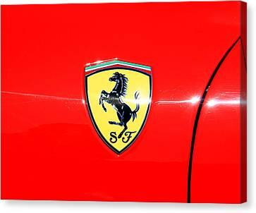 Ferrari Logo Canvas Print by Valentino Visentini