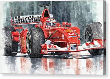 2002 Ferrari Marlboro F 2002 Ferrari 051 Rubens Borrichello Canvas Print