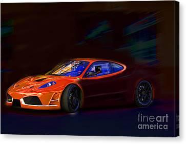 Canvas Print featuring the photograph Ferrari Shadow by Gunter Nezhoda