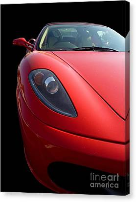 Canvas Print featuring the photograph Ferrari by Vicki Spindler