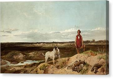 Ferret Canvas Print - Ferreting by Richard Ansdell