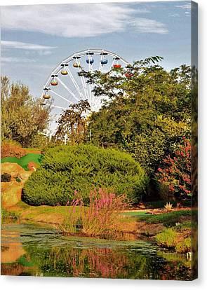 Ferris Wheel - Ocean City Maryland Canvas Print by Kim Bemis