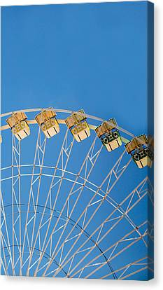 Ferris Wheel 2 Canvas Print by Rebecca Cozart