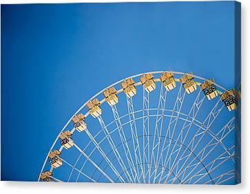 Ferris Wheel 3 Canvas Print by Rebecca Cozart