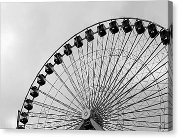 Ferris Wheel Canvas Print by A K Dayton