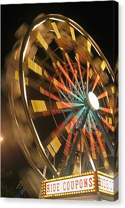 Ferris Wheel Canvas Print by Brandon Tabiolo