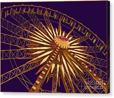 Ferris Wheel Canvas Print by Cheryl Del Toro