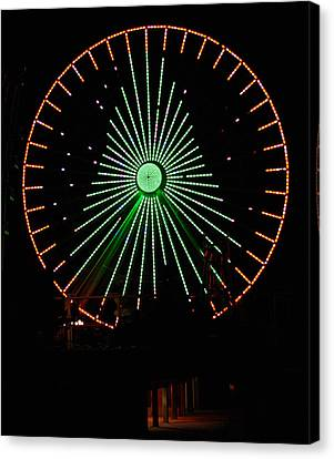 Ferris Wheel Christmas Tree Canvas Print