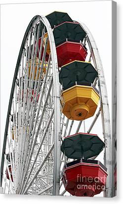 Ferris Wheel Colors Canvas Print by John Rizzuto