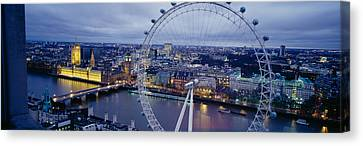 Ferris Wheel In A City, Millennium Canvas Print by Panoramic Images