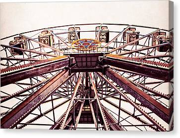 Ferris Wheel In Color Canvas Print