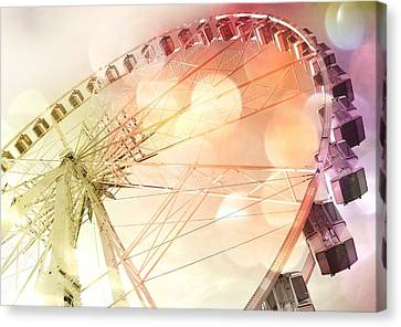 Ferris Wheel In Paris Canvas Print by Marianna Mills
