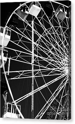Ferris Wheel Lines Canvas Print by John Rizzuto