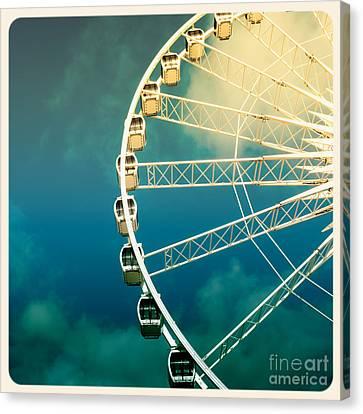 Ferris Wheel Old Photo Canvas Print by Jane Rix
