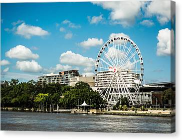 Ferris Wheel On The Brisbane River Canvas Print