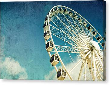 Activity Canvas Print - Ferris Wheel Retro by Jane Rix