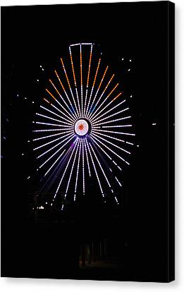 Ferris Wheel Santa Canvas Print
