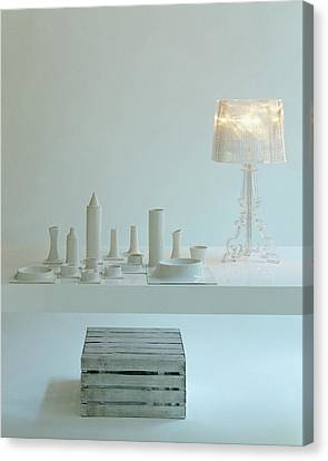Ferruccio Laviani's Bourgie Lamp From Kartell Canvas Print by Romulo Yanes