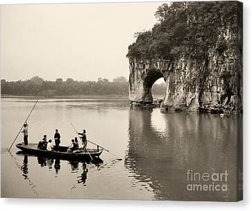 Canvas Print featuring the photograph Ferry At Elephant's Trunk Hill by Nigel Fletcher-Jones