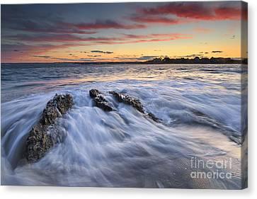 Ferry Beach Sunset Canvas Print