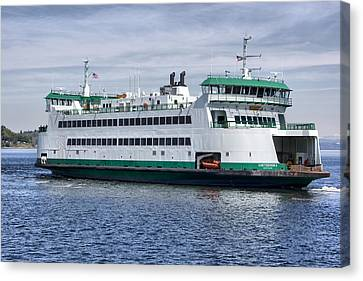 Ferry Boat Chetzemoka  Canvas Print by Bob Noble Photography