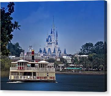 Ferry Boat Magic Kingdom Walt Disney World  Canvas Print by Thomas Woolworth