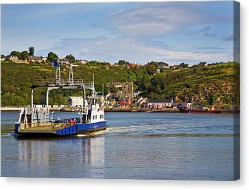 Ferry Crossing Waterford Harbour Canvas Print by Panoramic Images