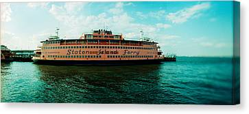 Staten Island Ferry Canvas Print - Ferry In A River, Staten Island Ferry by Panoramic Images
