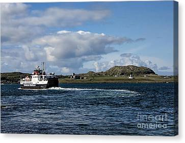 Ferry To Iona Canvas Print by Chris Thaxter