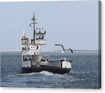Ferry To Ocracoke 4 Canvas Print by Cathy Lindsey
