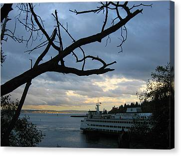 Ferryboat To Seattle  Canvas Print