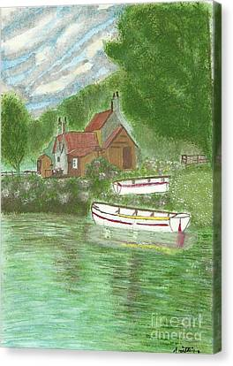 Ferryman's Cottage Canvas Print by Tracey Williams