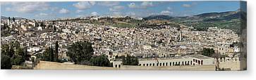 Fes Seen From South, Moulay Yacoub Canvas Print