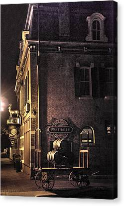 Festhalle Nocturne Canvas Print by William Fields