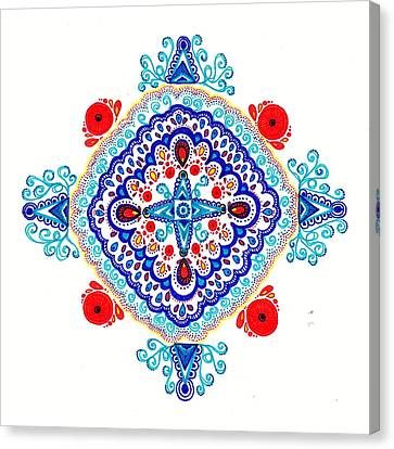 Moroccan Canvas Print - Festival by Marie Parker